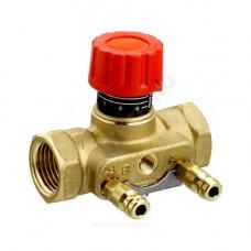"""Клапан балансировочный ручной латунь CNT Ду 15 Ру16 Rp1/2"""" ВР Kvs=1.6м3/ч с изм/нип Danfoss 003Z7641"""